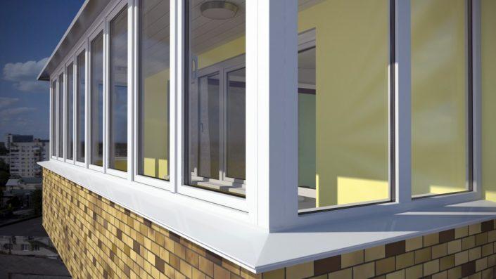 Окна балкон